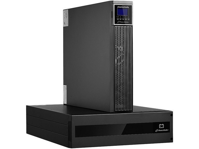 "UPS RACK 19"" POWERWALKER ON-LINE 10000VA RTG PF1 2X IEC C13 OUT + TERMINAL + BATTERY PACK"